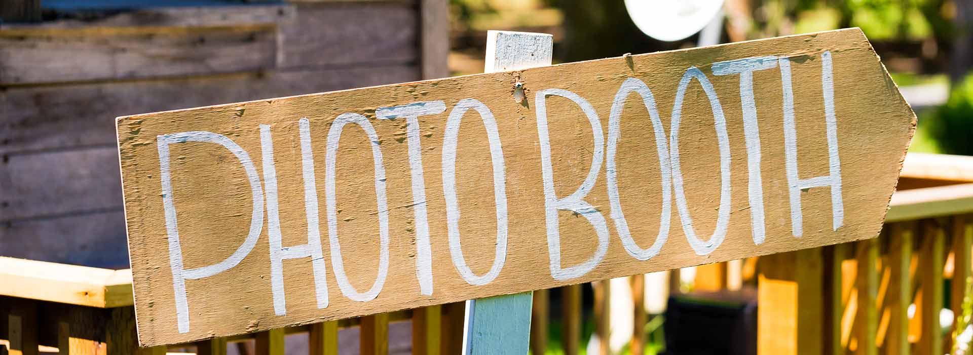 Cartello indicazione photobooth